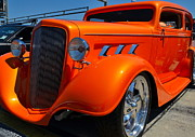 Street Rod Photos - bright orange Rod by Mark Spearman