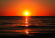 Healing Digital Art Metal Prints - Bright Skies - Sunset Art Metal Print by Sharon Cummings
