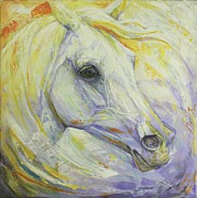 Horse Art Paintings - Bright Spring by Silvana Gabudean