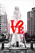 Love Park Framed Prints - Brightest Love Framed Print by Bill Cannon