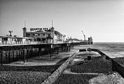 Brighton Beach Framed Prints - Brighton Beach mono Framed Print by Ian Hufton