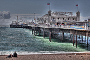 Town Pier Photos - Brighton Pier by Jasna Buncic