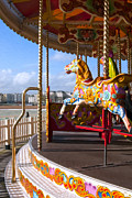 Photo-realism Digital Art - Brighton Pier merry-go-round by Olaf Protze