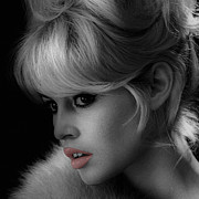 Bardot Framed Prints - Brigitte Bardot Framed Print by Andrew Fare