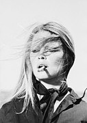 Smoking Metal Prints - Brigitte Bardot Metal Print by Sanely Great