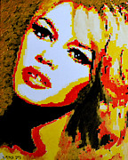 Brigitte Bardot Paintings - Brigitte Bardot by Victor Minca