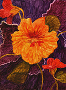 Brilliant Paintings - Brilliant Flower by Phyllis Brady