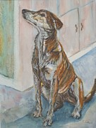 Brindle Painting Prints - Brindi Print by Saga Sabin