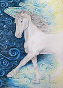 Beth Clark-mcdonal Drawings Metal Prints - Bringer of the Dawn Metal Print by Beth Clark-McDonal