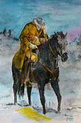 Cowboy Painting Originals - Bringing you home by Janina  Suuronen