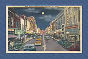 Virginia Postcards Posters - Bristol at night in the 1940s Poster by Denise Beverly