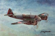 Vintage Aircraft Paintings - Bristol Beaufighter X by Carlos De Vasconcelos Tavares