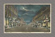 Virginia Postcards Posters - Bristol Virginia Tennessee Early Postcard Poster by Denise Beverly