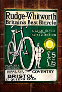 Brickwork Prints - Britains Best Bicycle Print by Adrian Evans