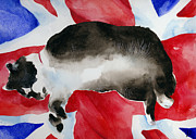 Cuddly Paintings - BritCat by Lydia Irving