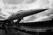Exhibit Prints - British Airways Concorde exhibit at the Intrepid Sea Air Space Museum new york Print by Joe Fox