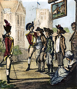 1770s Prints - BRITISH ARMY, 1770s Print by Granger