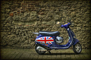 Vespa Posters - British At Heart Poster by Evelina Kremsdorf