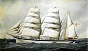 REPRODUCTION - British Barque - Dunearn at Sea