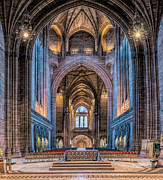 Liverpool Digital Art Prints - British Cathedral Print by Adrian Evans