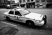 Patrol Car Prints - british columbia sheriff service patrol car vehicle Vancouver BC Canada Print by Joe Fox