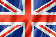 Waving Flag Digital Art - British flag by Laurent Davoust