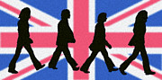 Fab Four Digital Art - British Invasion by Cristophers Dream Artistry