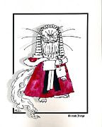 Stuffy Prints - British Judge Print by Elia Peters