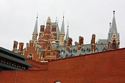 British Library And St. Pancras Print by Pat Purdy