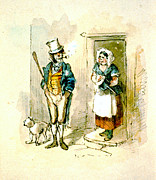 Doorsteps Posters - British Married Couple 1846 Poster by Padre Art