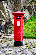 Mail Box Prints - British Post Box Print by Jim Pruett