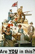 Lithograph Prints - British World War I Poster 1917 Print by Robert Baden Powell