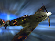 Ww2 Photographs Digital Art - British WW II Fighter Plane by Thomas Woolworth