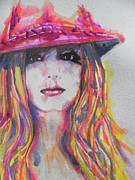 Musician Greeting Cards Paintings - Britney Spears by Chrisann Ellis