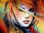 Abstract Music Digital Art - Britney-Spears by Mark Ashkenazi
