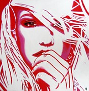Painted Image Mixed Media - Britney Spears by Venus