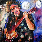 Bands Painting Prints - Brittany Howard of the Alabama Shakes Print by Carole Foret