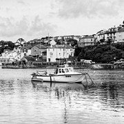 Angling Framed Prints - Brixham in black Framed Print by Sharon Lisa Clarke