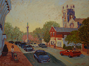 Park Scene Paintings - Broad St Westfield  by Monica Caballero
