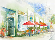 Watercolour Paintings - Broadway Roastery by Pat Katz
