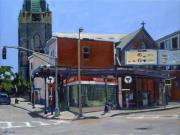 Broadway Painting Metal Prints - Broadway Station Metal Print by Deb Putnam