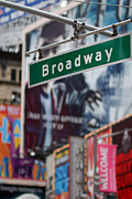 Broadway Framed Prints - Broadway Times Square New York Framed Print by Amy Cicconi