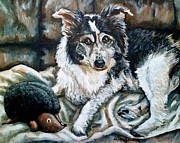 Collie Painting Framed Prints - Brody Framed Print by Shana Rowe