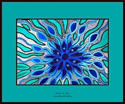 Angel Blues Prints - Broken Angel Blooms Print by Barbara St Jean