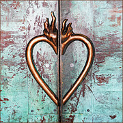 Fuad Azmat Prints - Broken Burning Heart Print by Fuad Azmat