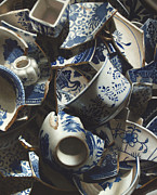 Larry Preston Prints - Broken China Print by Larry Preston