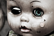 Babyface Posters - Broken doll crying Poster by Perfect Lazybones
