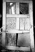 Shed Metal Prints - Broken Door Metal Print by Cheryl Young
