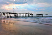 Storm Framed Prints Prints - Broken Dreams - Frisco Pier Outer Banks I Print by Dan Carmichael
