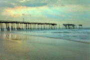 Storm Prints Framed Prints - Broken Dreams - Frisco Pier Outer Banks II Framed Print by Dan Carmichael